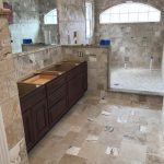 bathroom remodel travertine tiles stone marble