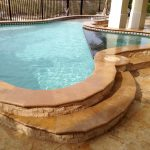 Country Classic Pool deck travertine tiles