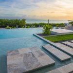 Pool deck travertine tiles stone marble