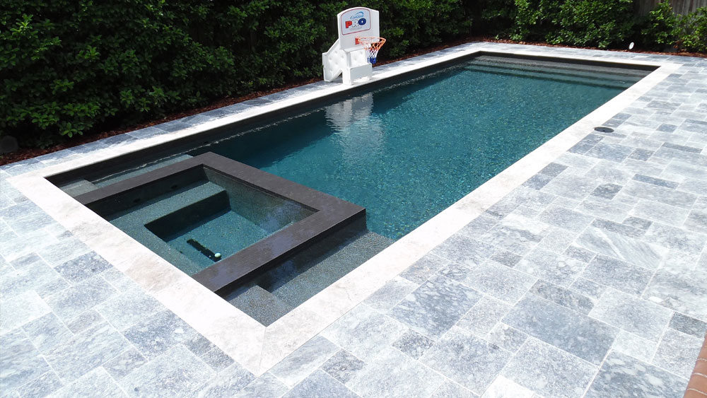 Marble Pool Decks Mesmerizing French Pattern Ocean Blue Tumbled Marble Paver  Stonemart
