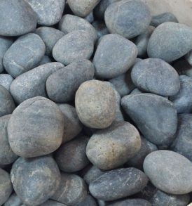 Black Tumbled Pebbles
