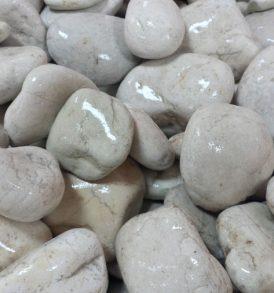 Wet Ivory Tumbled Pebbles