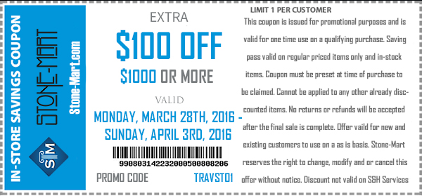 100 Dollars Off Coupon