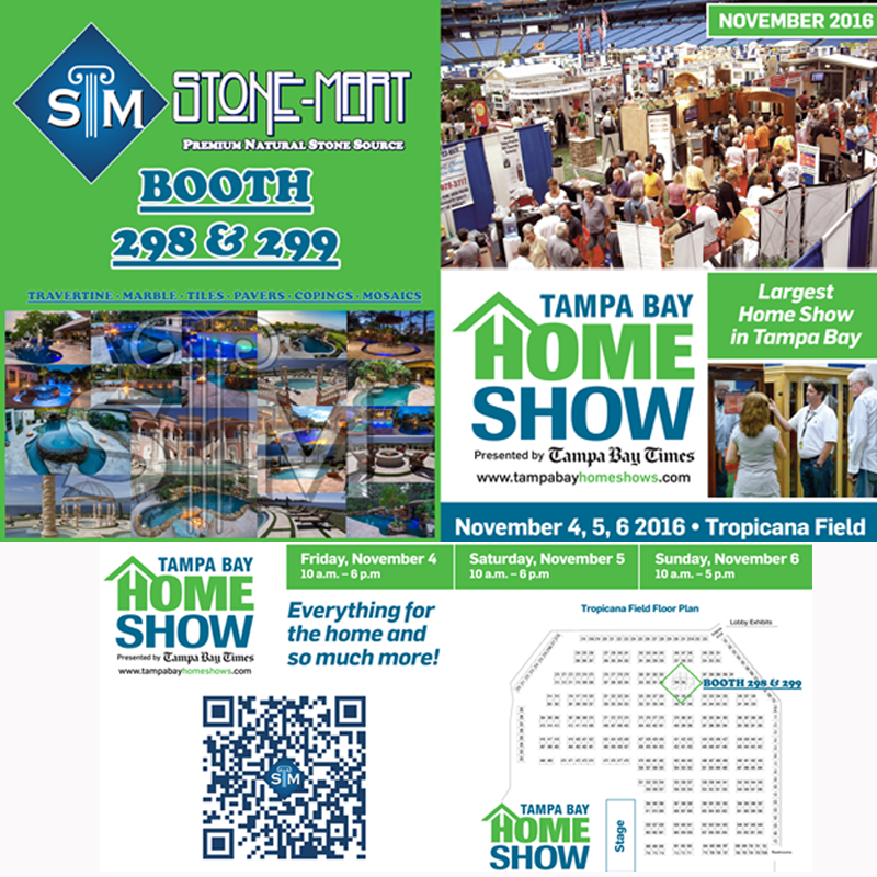 Tampa Bay Home Show Stone Mart Booths